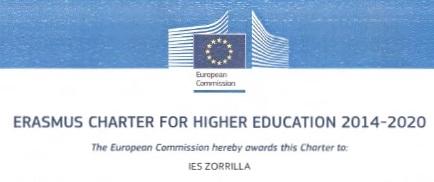 carta ERASMUS - IES ZORRILLA 2014-2020